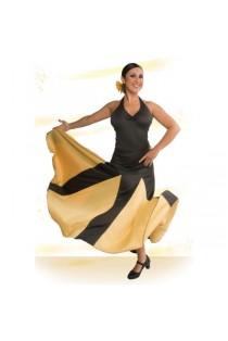 Falda Flamenco Palas y Godet Grandes. Entallada a Media Cadera con Vuelo de Capa