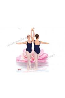 Maillot de Ballet Clasico con Tirante Ancho, Escote en U y Espalda Recta
