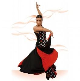 Vestido Flamenco de Escote Ovalado Delante muy Escotado de Espalda