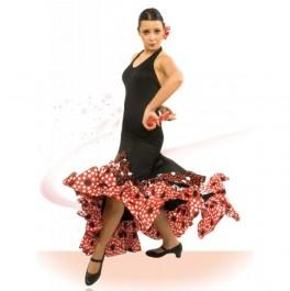 Vestido Flamenco Cogido al Cuello con Escote Ovalado y Espalda al Descubierto