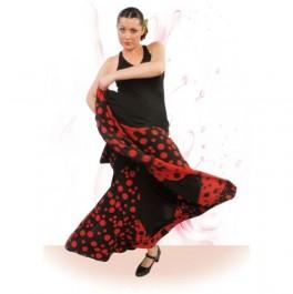 Vestido Flamenco con Escote Ovalado Delante muy Escotado de Espalda Entalla a Cadera