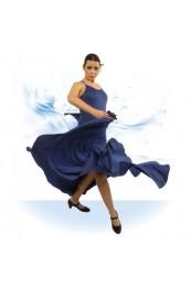 Falda Flamenca con Trincha 25 cm de Ancho que se Gira Haciendo el Efecto de Canesu
