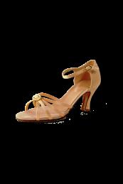 Zapato de Salon  con Punteras de tiras, descubierto y adornos.