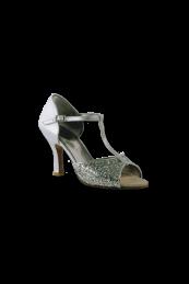 Zapato de Salón con Puntera descubierta con tira central a la correa.