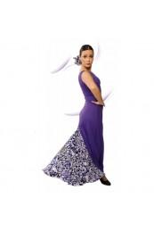 Vestido Flamenco sin Mangas, Escote de Pico, Fruncido Delante y Redondo en la Espalda